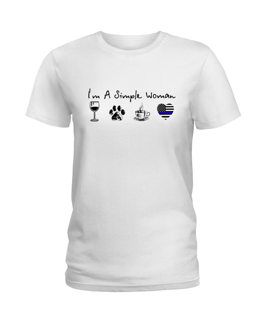 SIMPLE WOMAN WINE Ladies T-Shirt