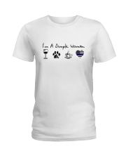 SIMPLE WOMAN WINE Ladies T-Shirt front