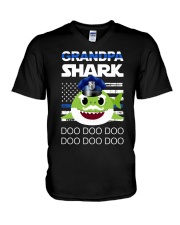 Grandpa Shark  V-Neck T-Shirt thumbnail