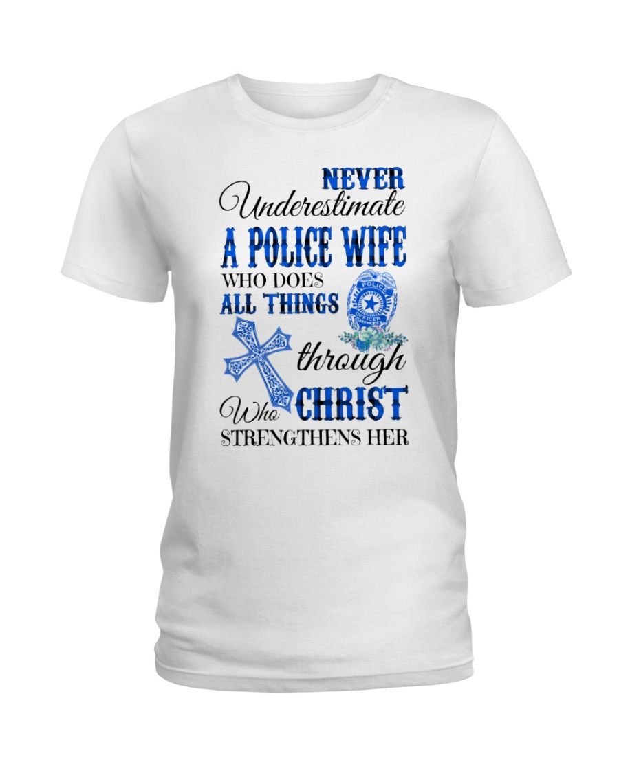 Police Wife Ladies T-Shirt