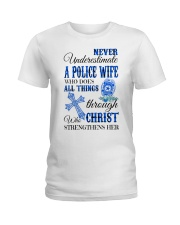 Police Wife Ladies T-Shirt front