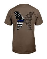 Blue Line Butterfly Storm Classic T-Shirt thumbnail