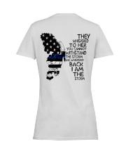 Blue Line Butterfly Storm Ladies T-Shirt women-premium-crewneck-shirt-back