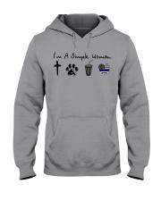 Cross - Paw - Coke - Blue Line Hooded Sweatshirt thumbnail