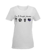 Cross - Paw - Coke - Blue Line Ladies T-Shirt women-premium-crewneck-shirt-front