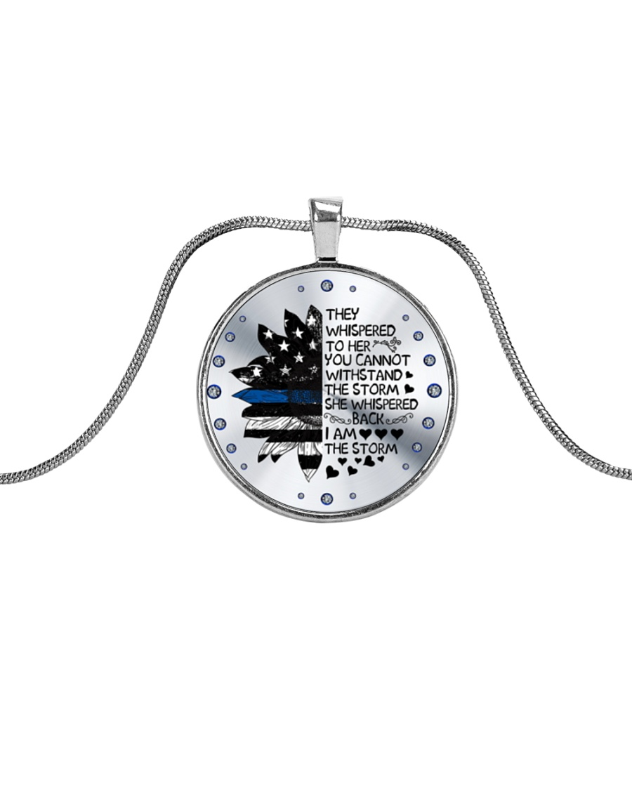 storm necklace Metallic Circle Necklace