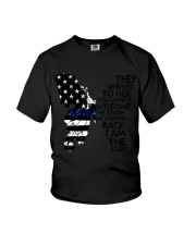 Blue Line Butterfly Storm Youth T-Shirt thumbnail