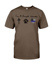 SIMPLE WOMAN Cross - Paw - Thin Blue Line Classic T-Shirt thumbnail