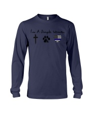 SIMPLE WOMAN Cross - Paw - Thin Blue Line Long Sleeve Tee thumbnail