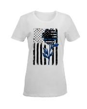 Sunflower blue Ladies T-Shirt women-premium-crewneck-shirt-front