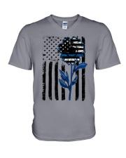 Sunflower blue V-Neck T-Shirt thumbnail