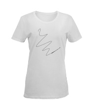 form white Ladies T-Shirt women-premium-crewneck-shirt-front