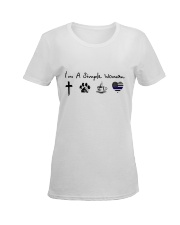 SIMPLE WOMAN GOD Ladies T-Shirt women-premium-crewneck-shirt-front