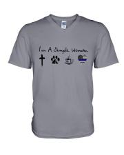 SIMPLE WOMAN GOD V-Neck T-Shirt thumbnail