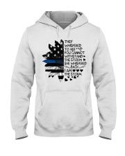 Storm Thin Blue Line sale Hooded Sweatshirt front