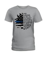 Storm Thin Blue Line sale Ladies T-Shirt thumbnail