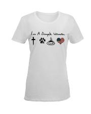 Order Cross Paw Coffee Flag Ladies T-Shirt women-premium-crewneck-shirt-front