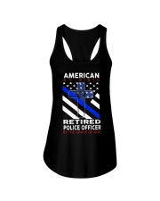 Retired Police Officer Ladies Flowy Tank thumbnail