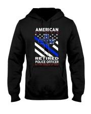 Retired Police Officer Hooded Sweatshirt thumbnail