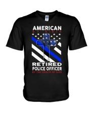 Retired Police Officer V-Neck T-Shirt thumbnail