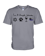 Order Star of David V-Neck T-Shirt thumbnail