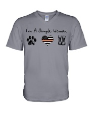 Order Simple Woman with Hiking Boots V-Neck T-Shirt thumbnail