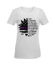 Storm Thin Purple Line Ladies T-Shirt women-premium-crewneck-shirt-front