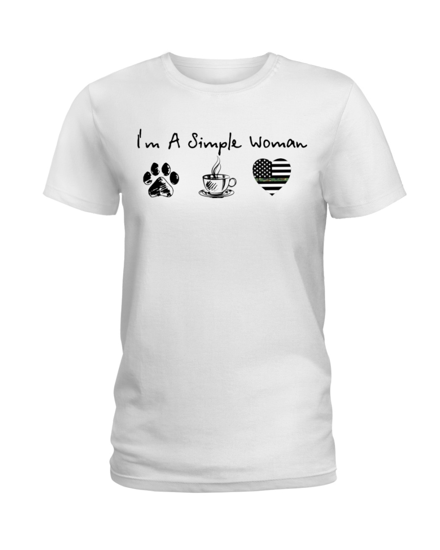 Simple Woman Camo Ladies T-Shirt