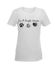 Simple Woman Camo Ladies T-Shirt women-premium-crewneck-shirt-front