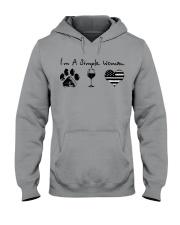 Order Simple Woman Silver Line Hooded Sweatshirt thumbnail