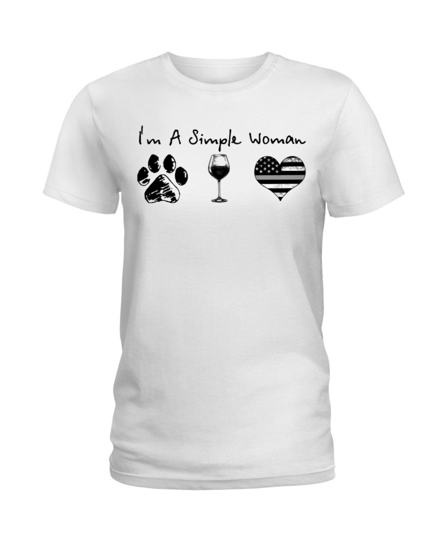 Order Simple Woman Silver Line Ladies T-Shirt