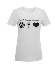 Order Simple Woman Silver Line Ladies T-Shirt women-premium-crewneck-shirt-front