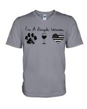 Order Simple Woman Silver Line V-Neck T-Shirt thumbnail