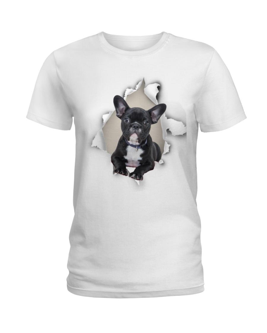 Frenchie Mom Ladies T-Shirt