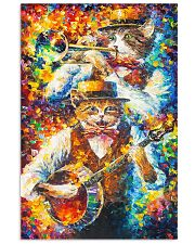 CAT PLAY MUSIC - WATERCOLOR PRINTED 11x17 Poster front