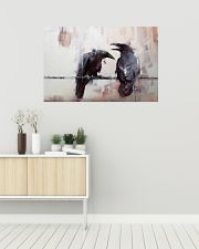 LIMITED EDITION - THE RAVEN WATERCOLOR PRINTED 36x24 Poster poster-landscape-36x24-lifestyle-01