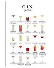 GIN - COCKTAIL GUIDE 16x24 Poster front