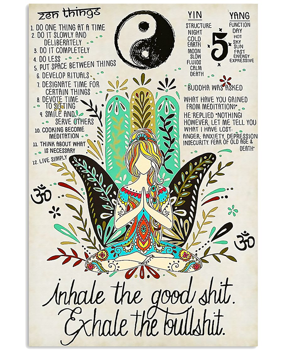 YOGA - INHALE - EXHALE 16x24 Poster