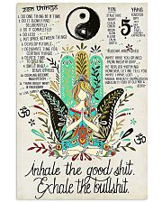 YOGA - INHALE - EXHALE 16x24 Poster front