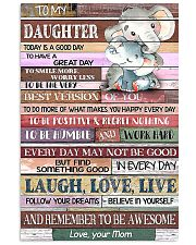 TO MY DAUGHTER - LIMITED EDITION 11x17 Poster front