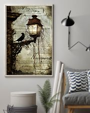 THE RAVEN - WATERCOLOR PRINTED - NEVERMORE 11x17 Poster lifestyle-poster-1
