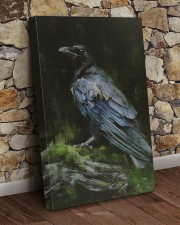 THE RAVEN - WATERCOLOR PRINTED - NEVERMORE 20x30 Gallery Wrapped Canvas Prints aos-canvas-pgw-20x30-lifestyle-front-21