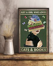 WHO REALLY LOVED CATS AND BOOK 11x17 Poster lifestyle-poster-3
