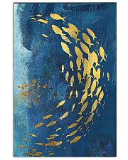 GOLD FISHES OCEAN SEA NAVY BLUE - CANVAS 11x17 Poster front