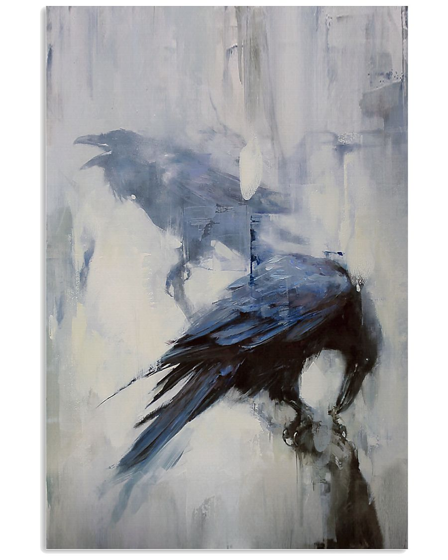 THE RAVEN - WATERCOLOR PRINTED - NEVERMORE 11x17 Poster