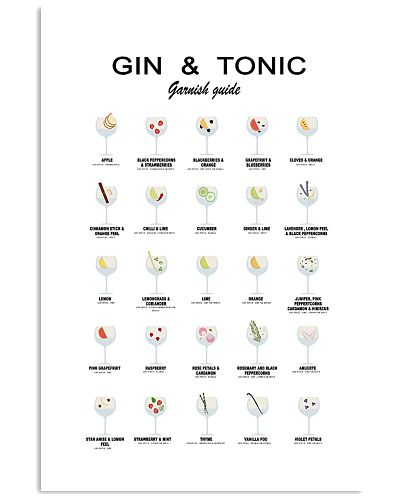 GIN AND TONIC - GARNISH GUIDE - LIMITED EDITION