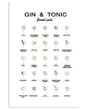 GIN AND TONIC -  GARNISH GUIDE 16x24 Poster front