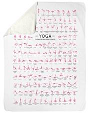 "150 POSES YOGA FLAMINGO - YOGA FOR LIFE Large Sherpa Fleece Blanket - 60"" x 80"" thumbnail"