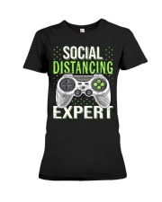 Social distancing expert  Premium Fit Ladies Tee thumbnail