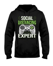 Social distancing expert  Hooded Sweatshirt tile